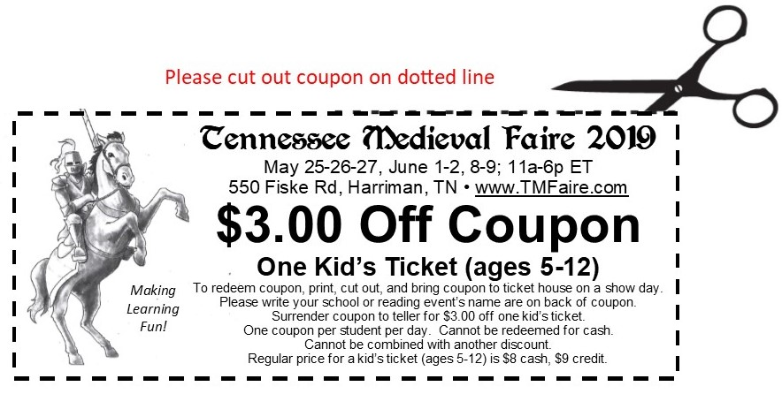 TMF 2019 Home School Coupon
